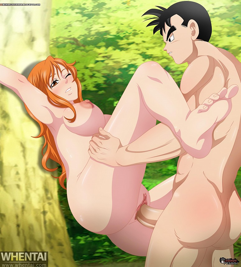 Nami and Gohan - Benhxgx - Dragon Ball - One Piece