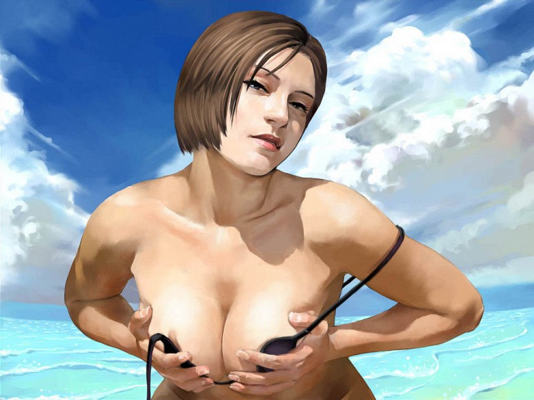Summer Fun With Jill Valentine | Resident Evil Hentai Image