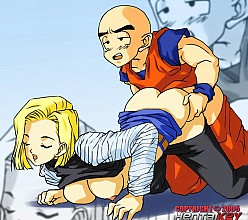Android 18 and Krillin - Dragonball
