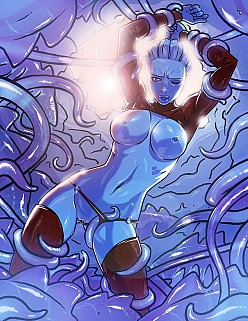 Asari Vs Tentacles | Mass Effect Hentai Image