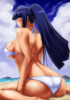 Hinata At The Beach | Naruto Hentai Image