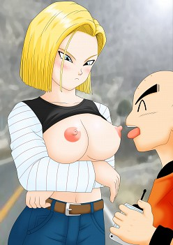 Krillin and Android 18 - Dragon Ball