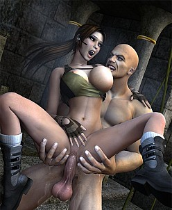 Lara Croft and Lex Luthor - Tomb Raider