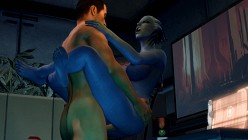 Liara T'Soni and Shepard - Mass Effect