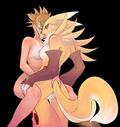 Makino Ruki and Renamon - Digimon Hentai