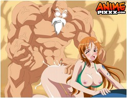 Master Roshi and Nami - One Piece - Dragon Ball