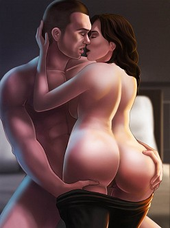 Miranda Lawson and Shepard - Mass Effect Hentai Image