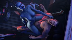 Samara and Shepard - HuggyBear - Mass Effect