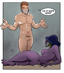 Shepard and Tali Zorah - Mass Effect Hentai Image