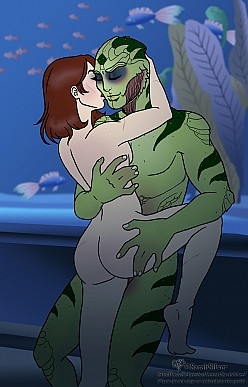 Shepard and Thane Krios - Mass Effect
