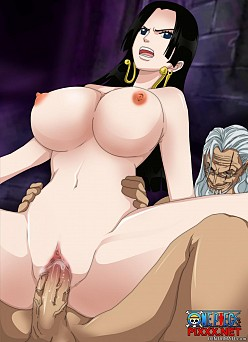 Silvers Rayleigh and Boa Hancock - One Piece Hentai Image