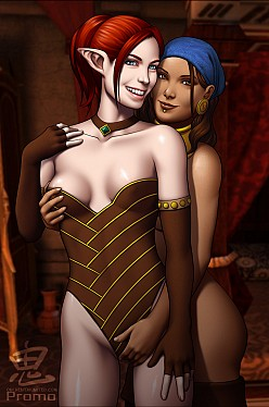 Tallis and Isabela - Oni - Dragon Age