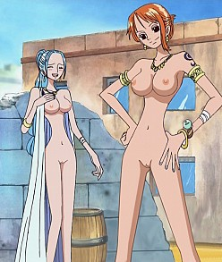 Vivi And Nami Naked In Arabasta | One Piece Hentai Image
